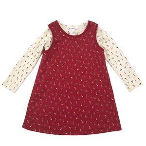 Vintage Gymboree reversible red jumper dress 4/5
